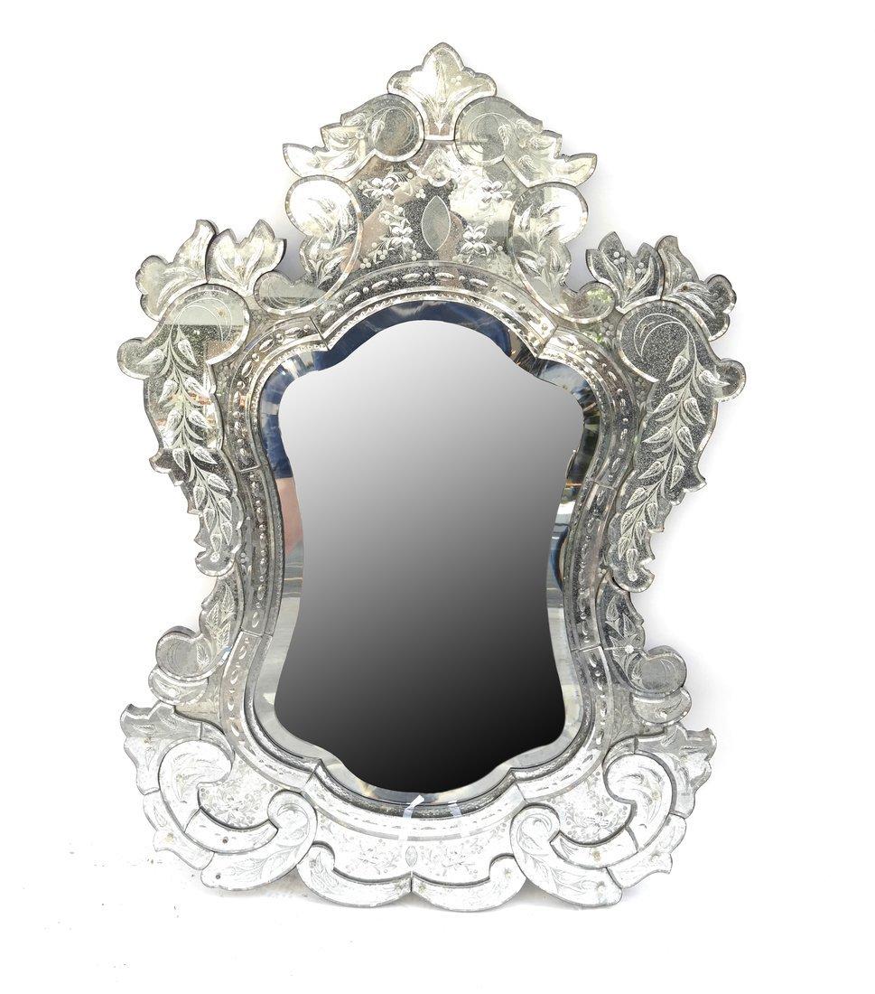 Venetian Style Cartouche Mirror