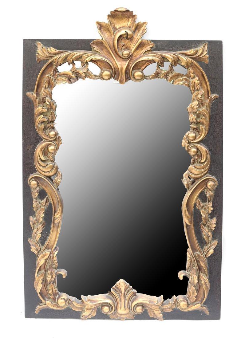 Baroque Style Foliate Framed Mirror