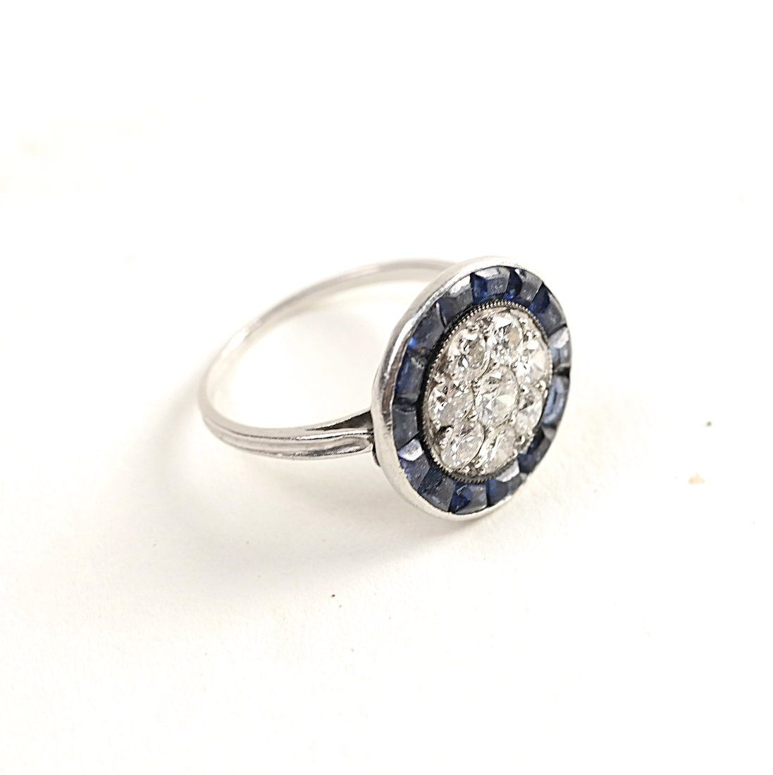 Platinum and Diamond Cocktail Ring
