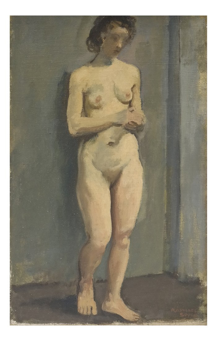 Raphael Soyer, Standing Female Nude