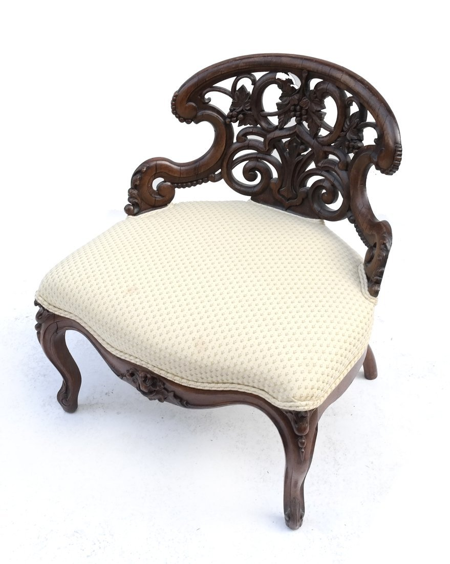 Victorian Exotic Wood Side Chair