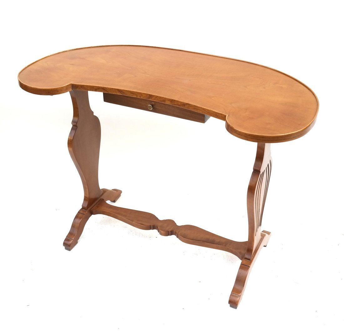 Kidney-Shaped Fruitwood Work Table