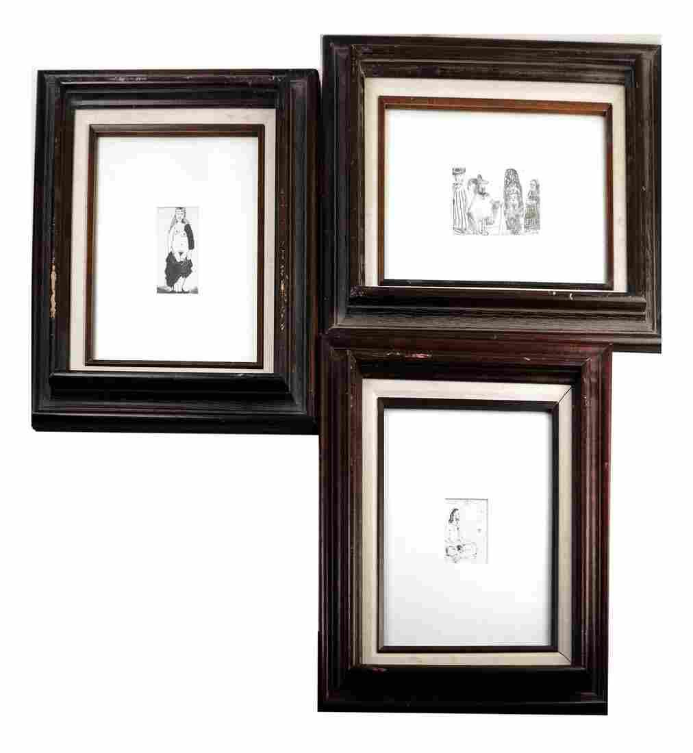 Set of 3 Framed Prints After Picasso
