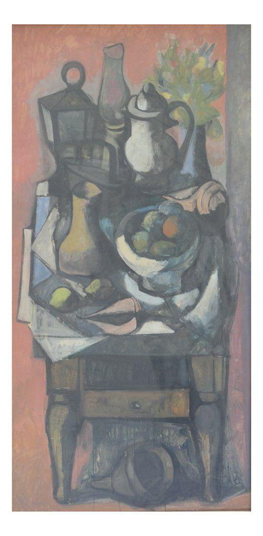 Modern Still Life, Oil on Canvas