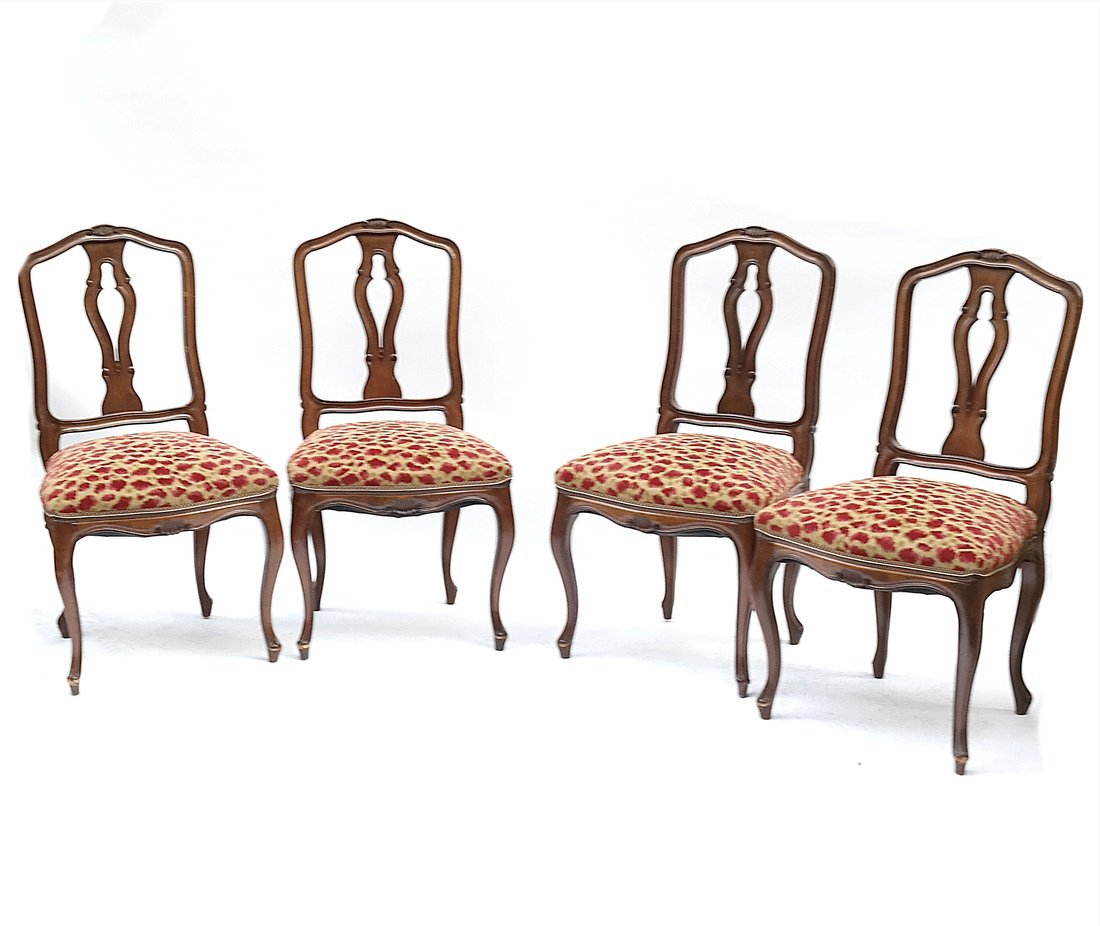 Set of 4 Louis XV-Style Side Chairs