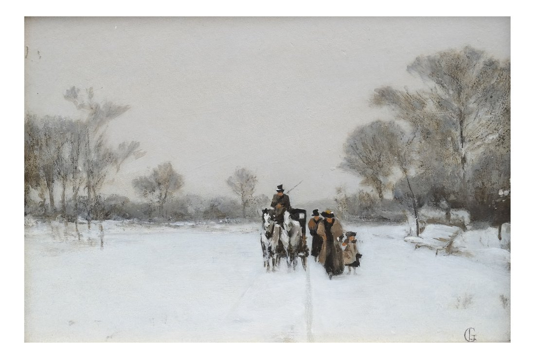European 19th Century Winter Scene