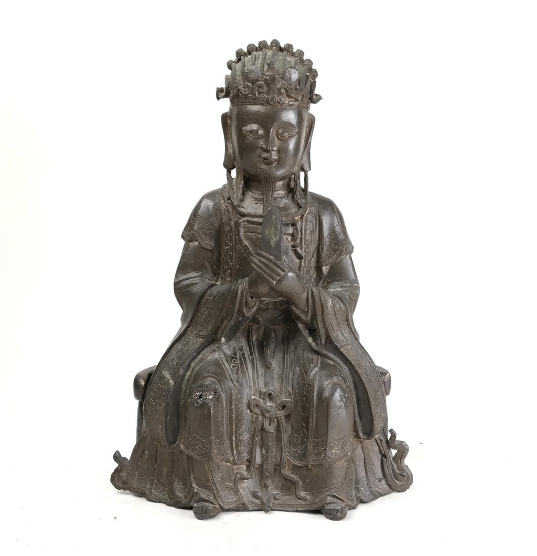 Early Asian Bronze Seated Figure