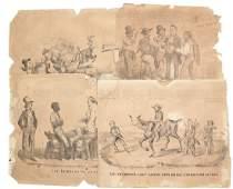 Nathaniel Currier Four 1856 Satirical Campaign