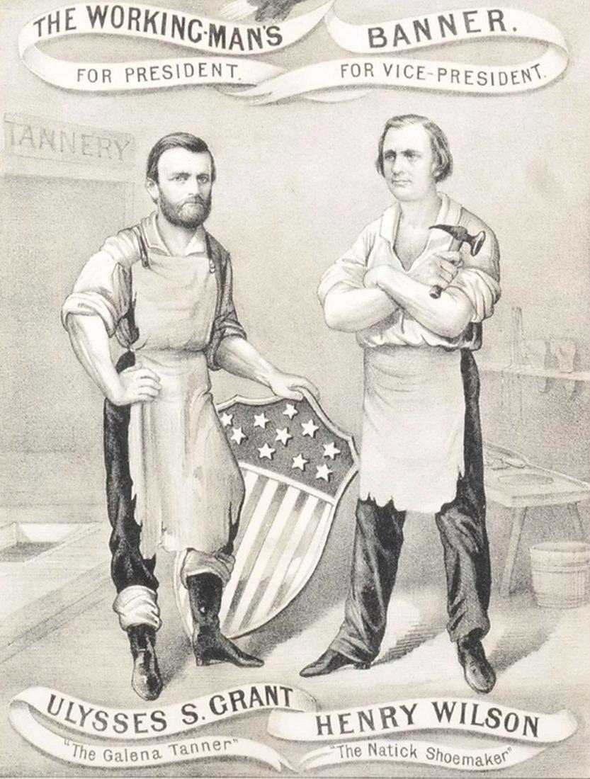 U.S. Grant & H. Wilson 1872 Working-Man's Banner