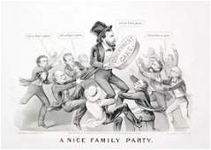 Currier  Ives 1872 A Nice Family Party