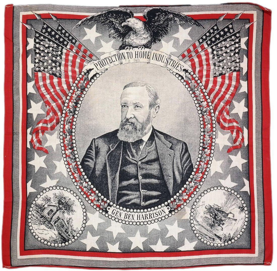 Benjamin Harrison 1888 Portrait Bandana