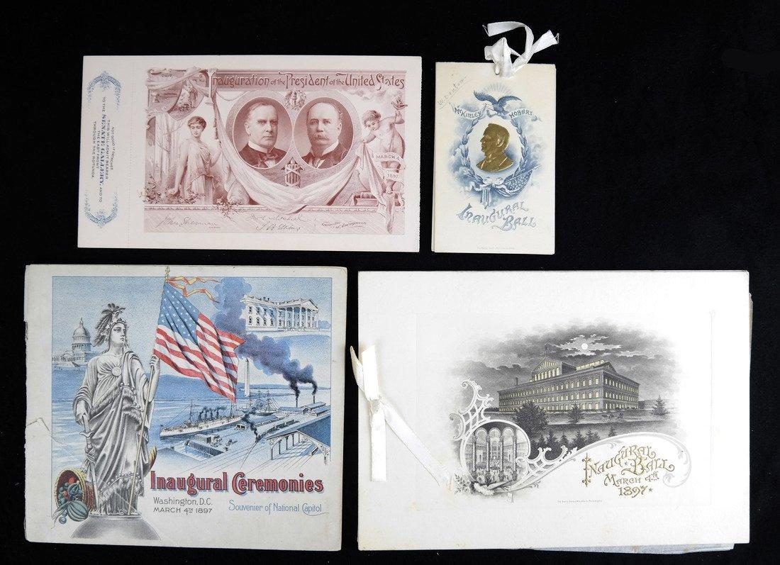 Wm. McKinley & G.A. Hobart 1897 Inauguration Ticket and