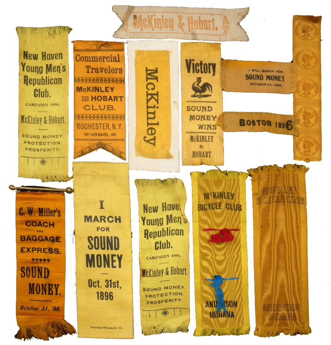 "Wm. McKinley & G.A. Hobart 1896 ""Sound Money"" Campaign"