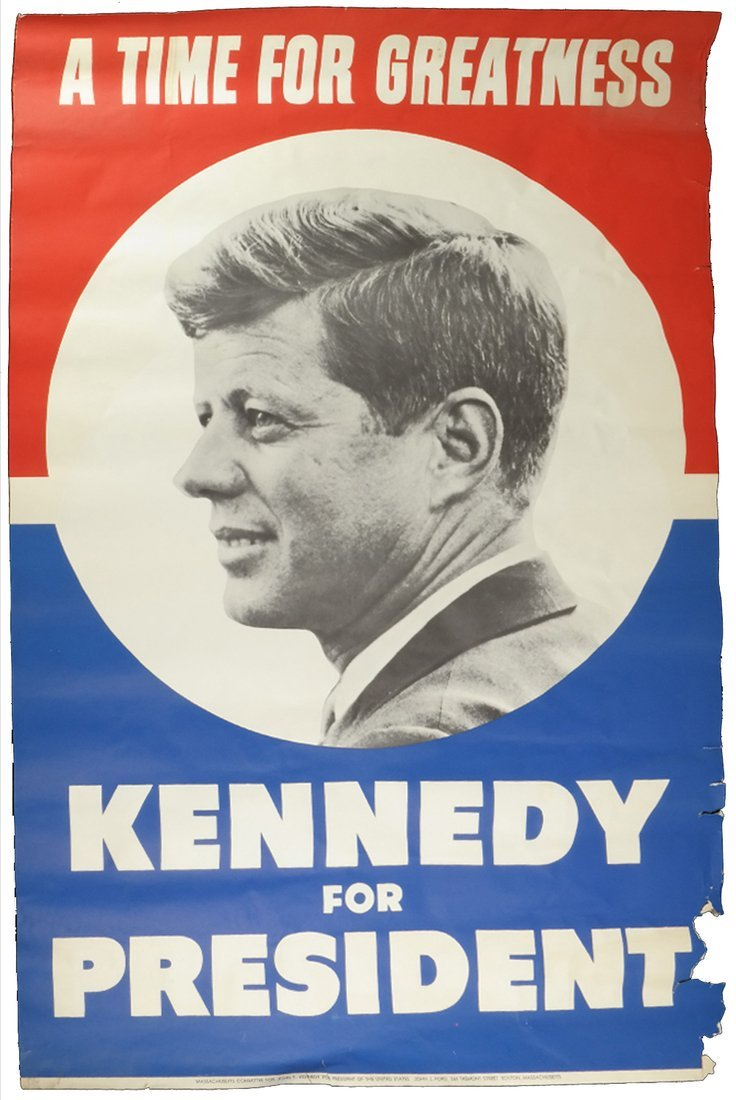 John F. Kennedy Large 1960 Campaign Poster