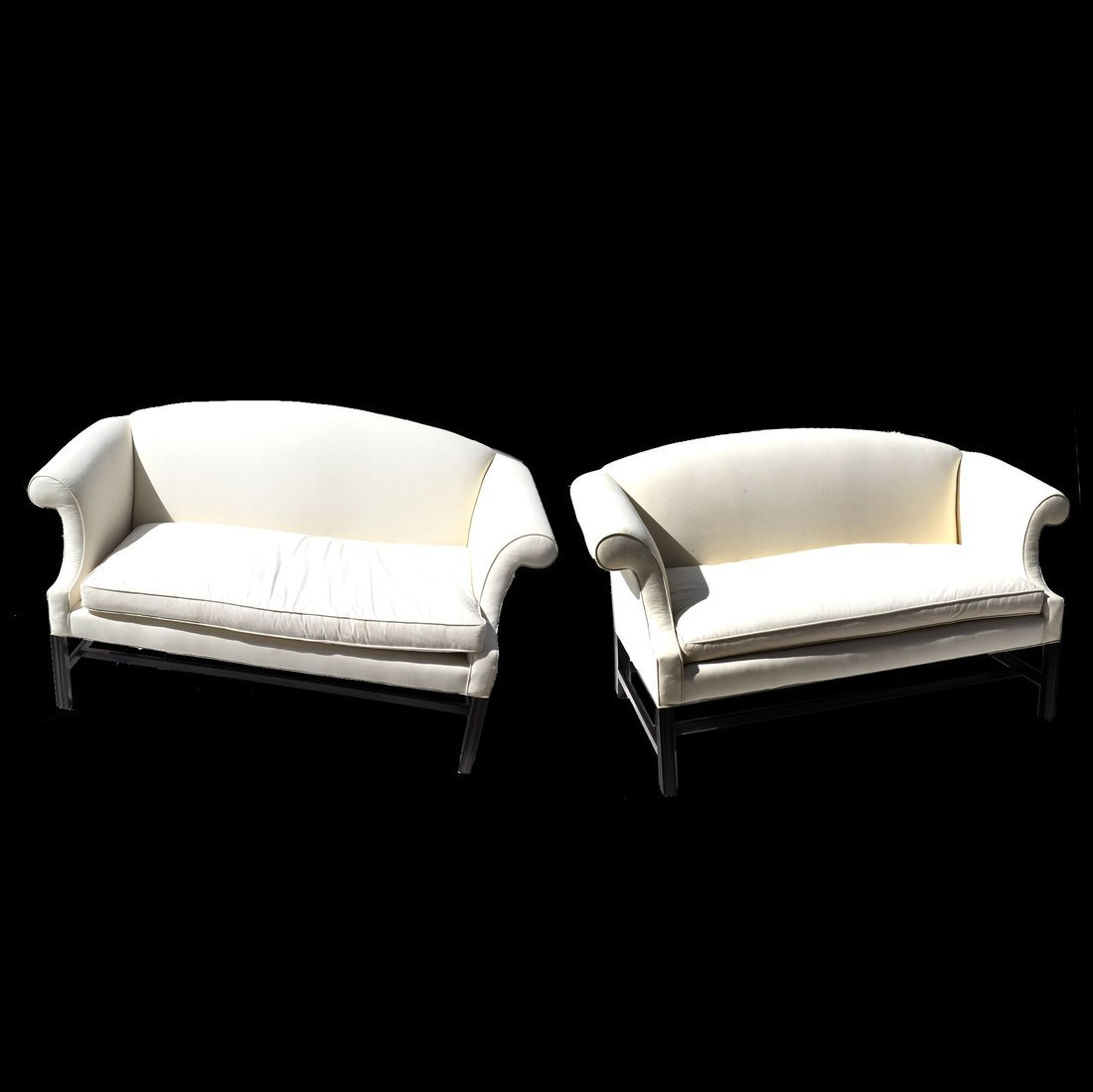 Pair of Chippendale-Style Loveseats