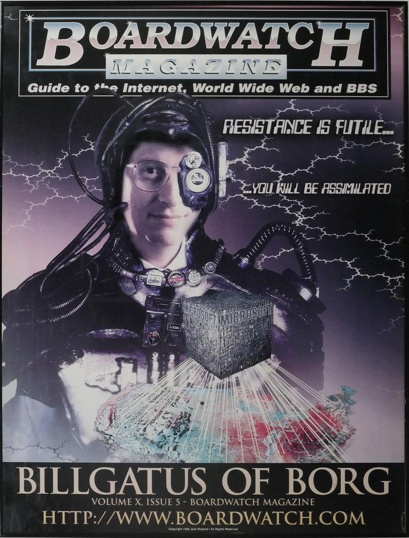 Boardwatch 'BILLGATUS OF BORG' Poster, 1996 - 2