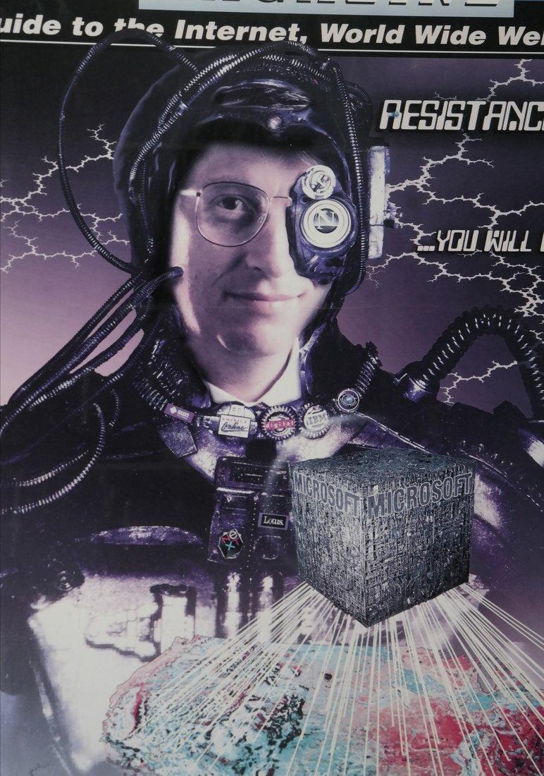 Boardwatch 'BILLGATUS OF BORG' Poster, 1996 - 3