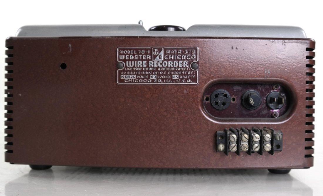 Webster-Chicago Wire Recorder, 78-1 - 5
