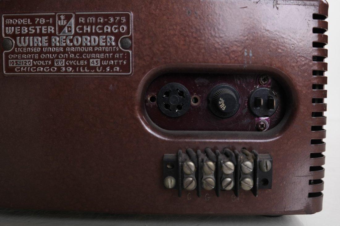Webster-Chicago Wire Recorder, 78-1 - 6