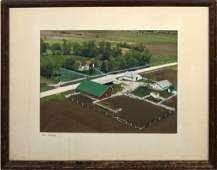 Handcolored Lithograph of Iowa Farm