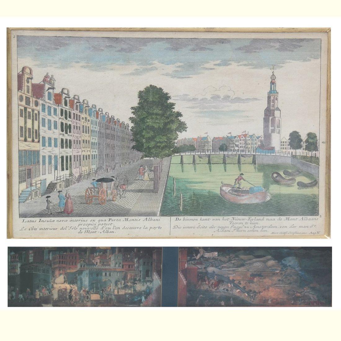 Two Prints Depicting Urban Scenes