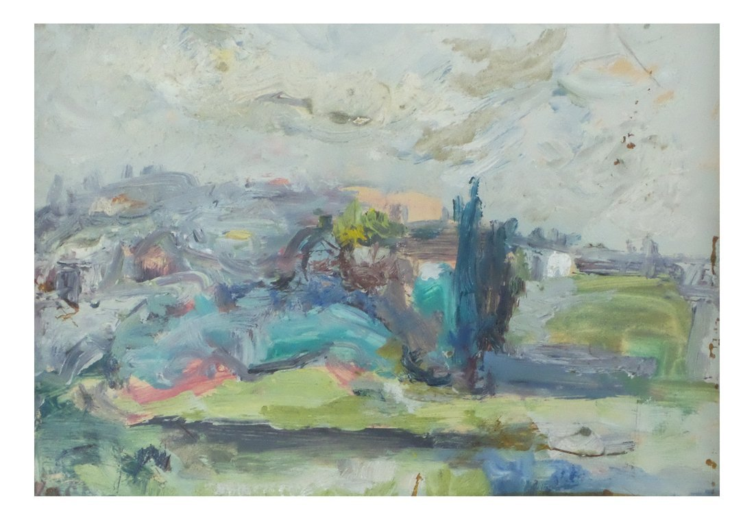 Abstract Landscape, Oil on Board