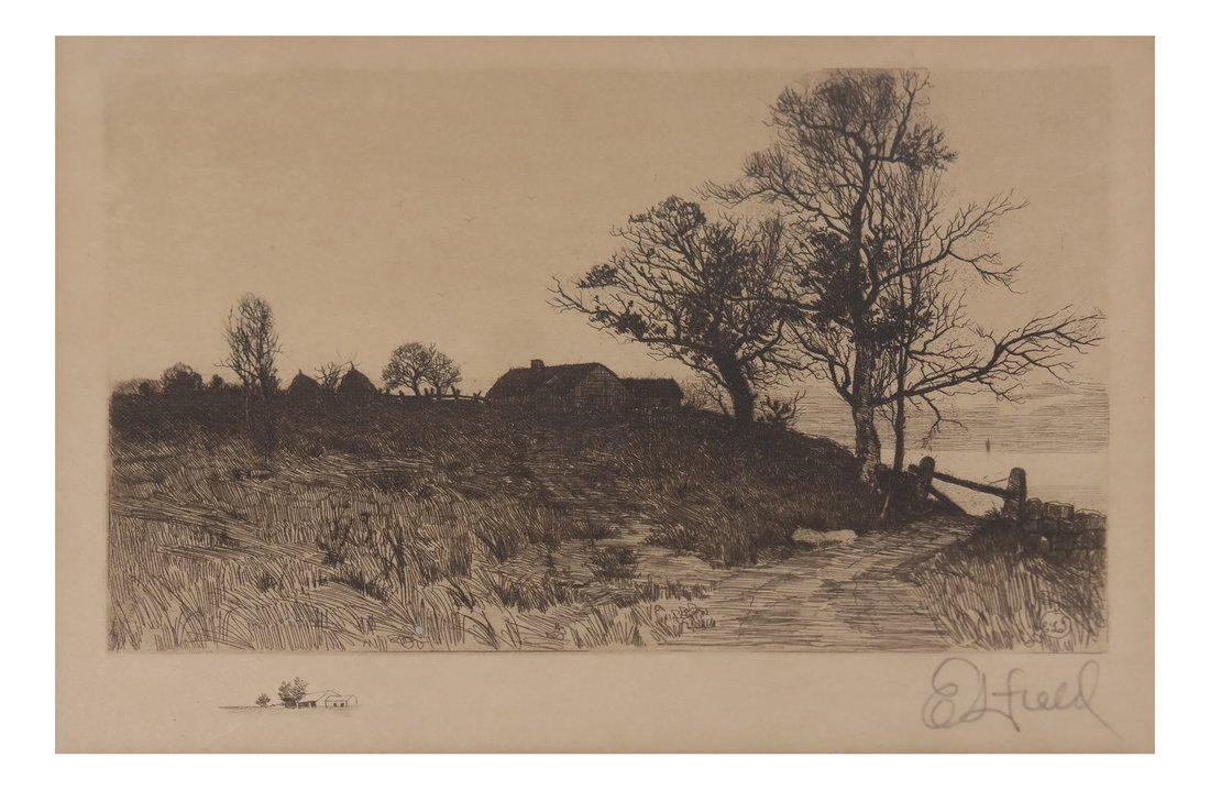 E.L. Field Landscape Etching
