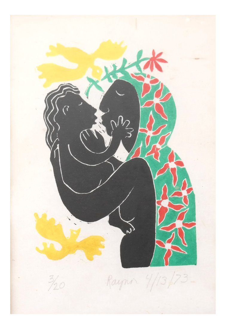 Raynor, Woman Holding Child Print