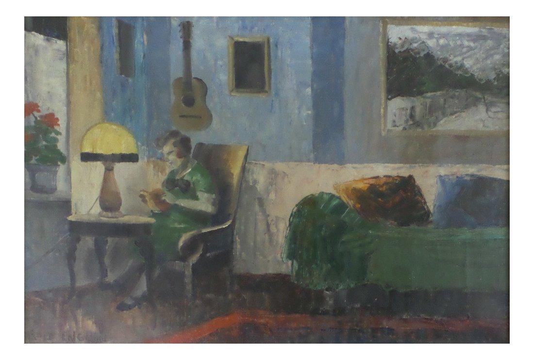 Harald Engman - Woman Reading