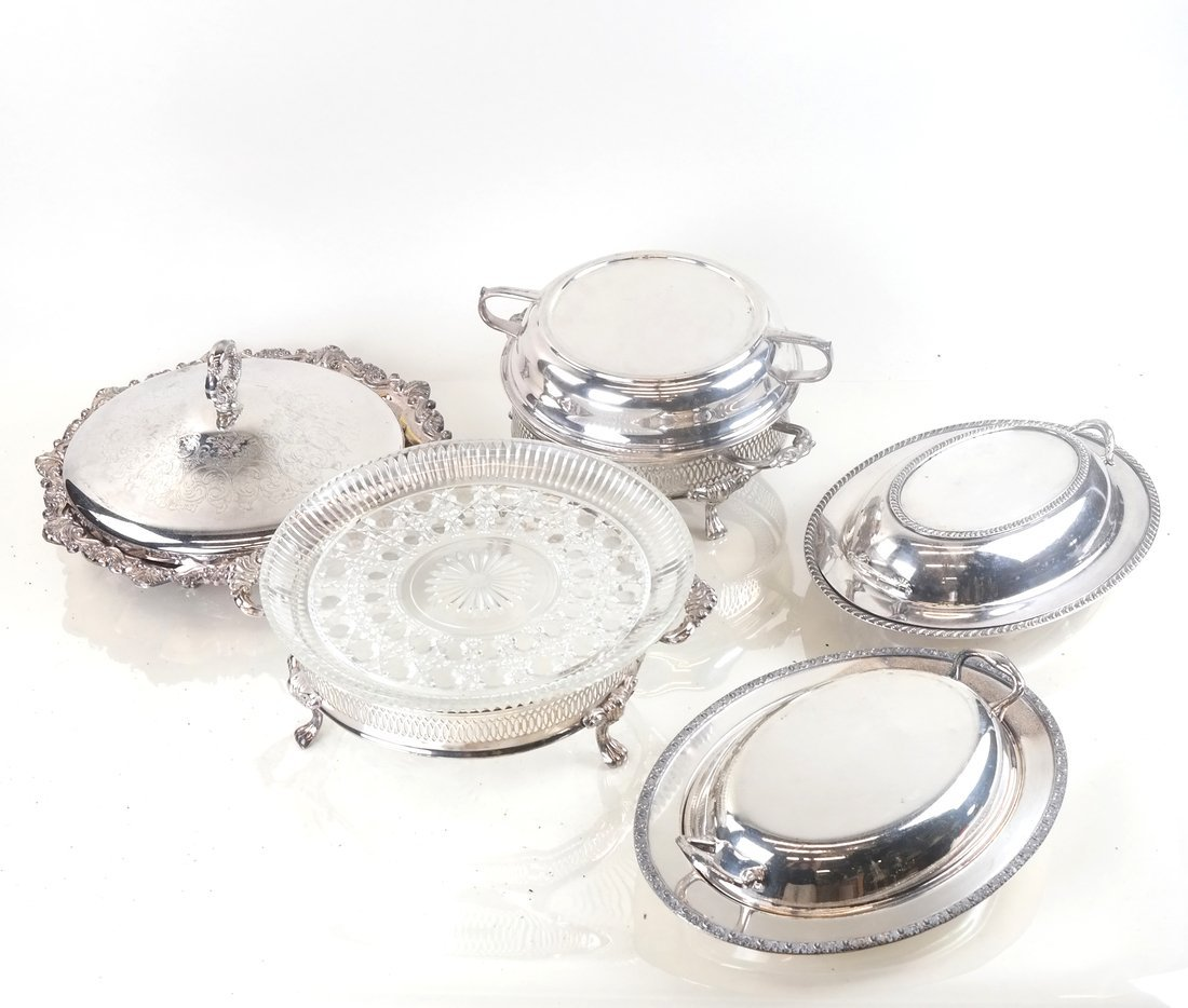 7 Assorted Silver Plate Serving Articles