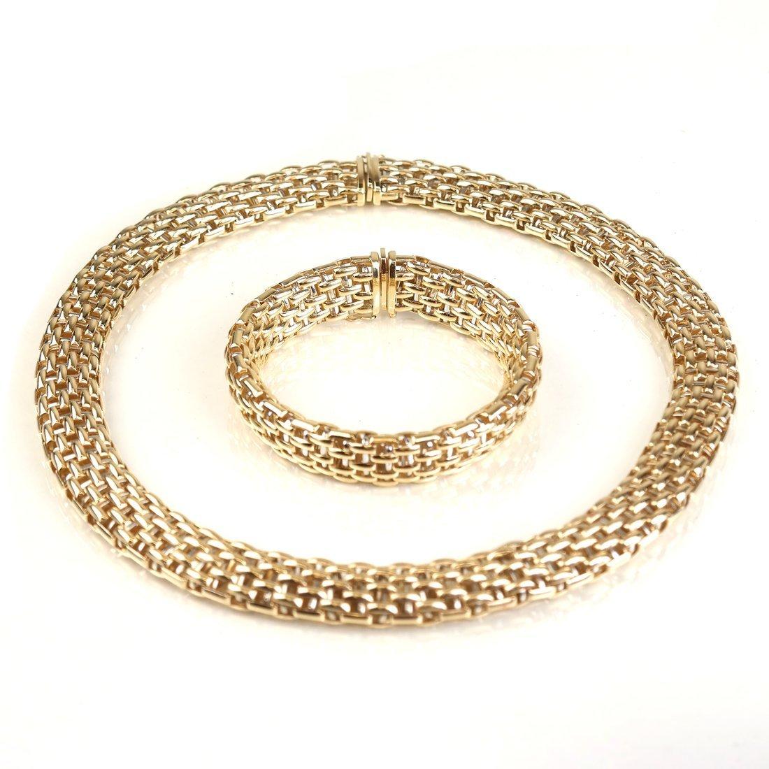 18k Fope Necklace & Bracelet