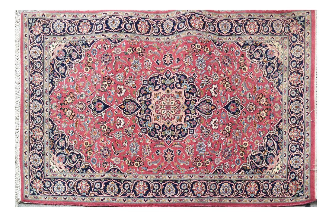 Wool and Silk Woven Persian Style Rug