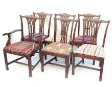 Six George III Style Mahogany Chairs