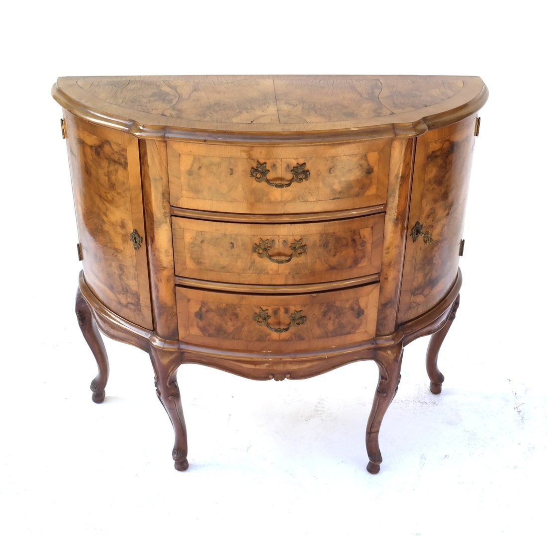 Louis XV Style-Demilune Commode