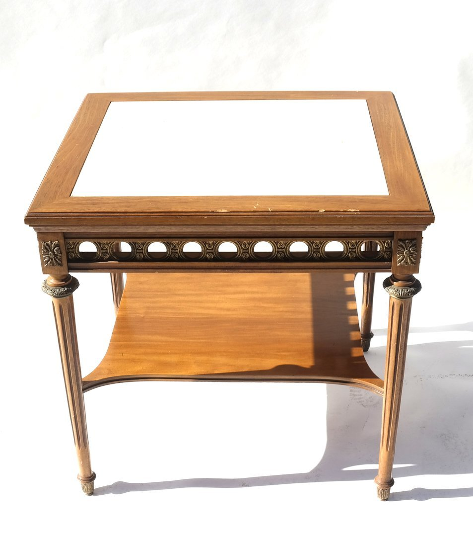 Louis XVI-Style Marble Inset Table