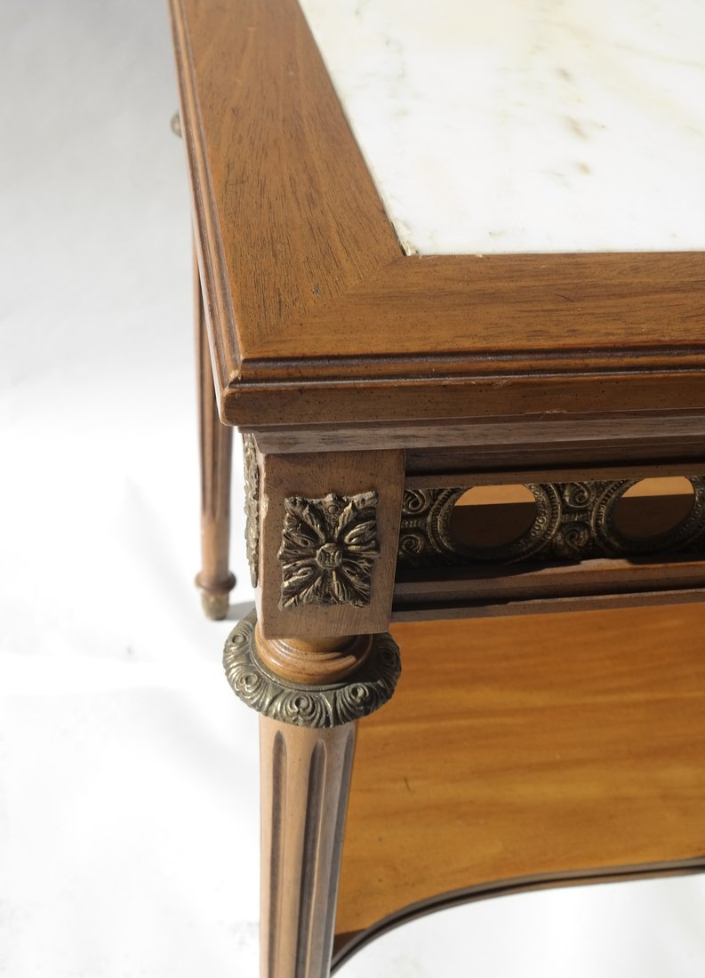Louis XVI-Style Marble Inset Table - 2