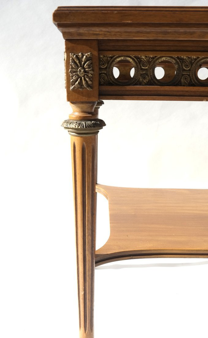Louis XVI-Style Marble Inset Table - 6