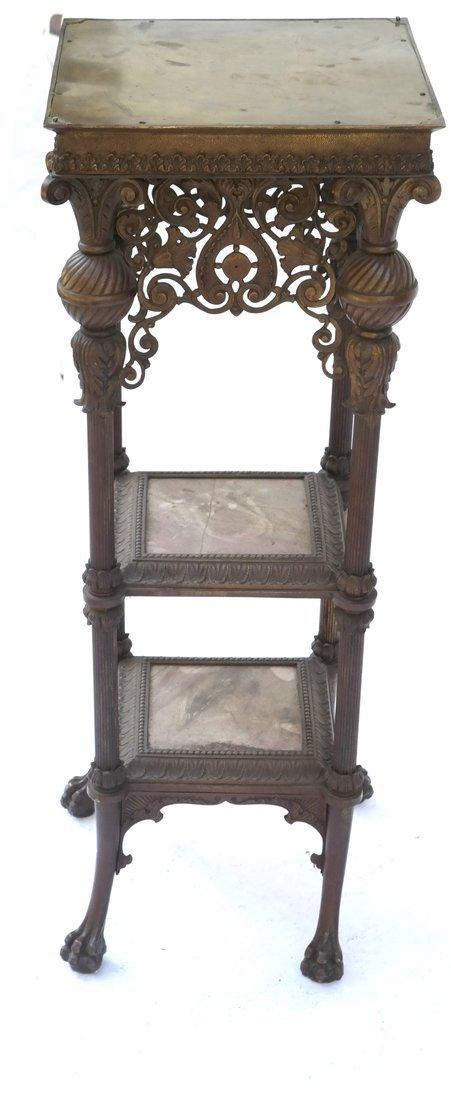 Victorian Bronze Marble Pedestal - 2