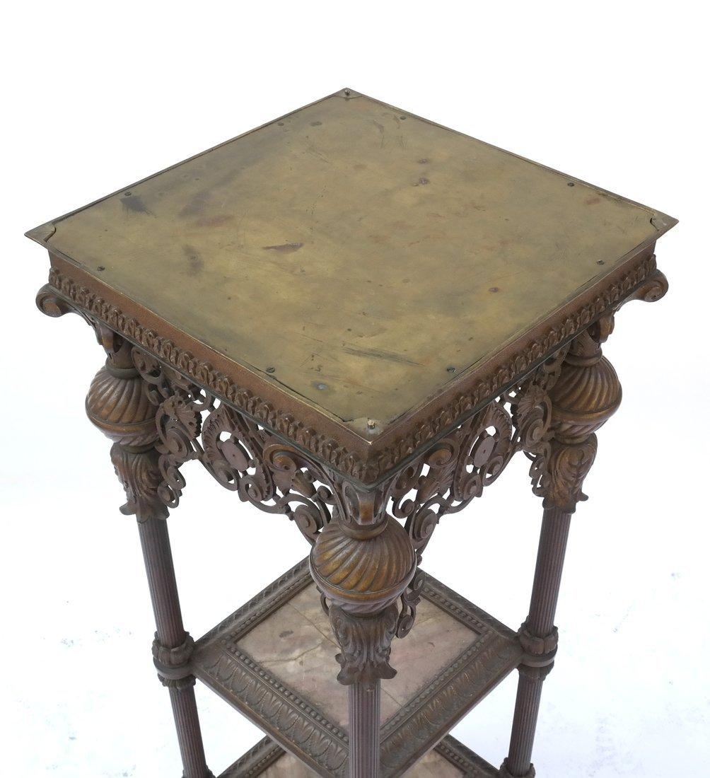 Victorian Bronze Marble Pedestal - 3