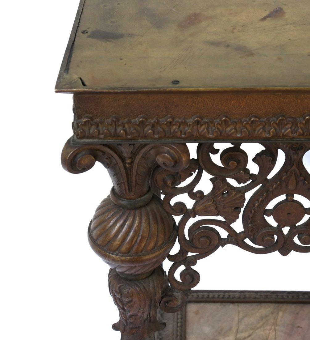 Victorian Bronze Marble Pedestal - 4