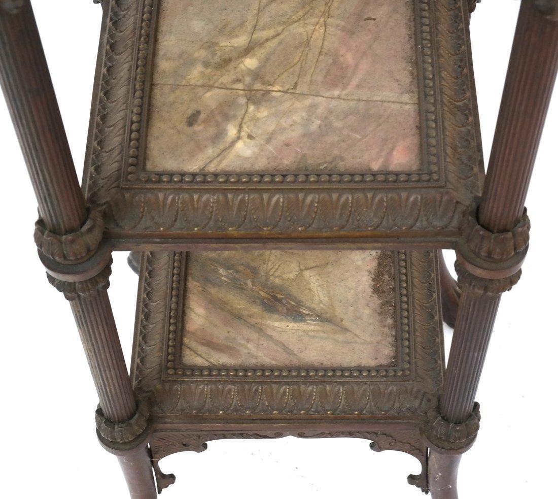 Victorian Bronze Marble Pedestal - 5