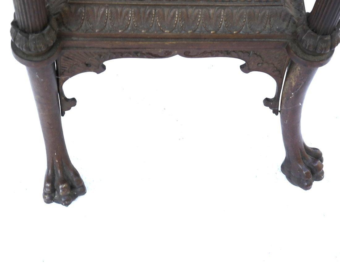 Victorian Bronze Marble Pedestal - 6