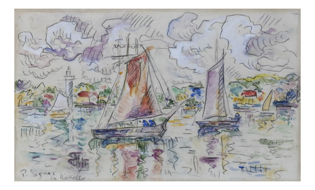 "Manner of  P. Signac, Gouache - ""La Rochelle"""
