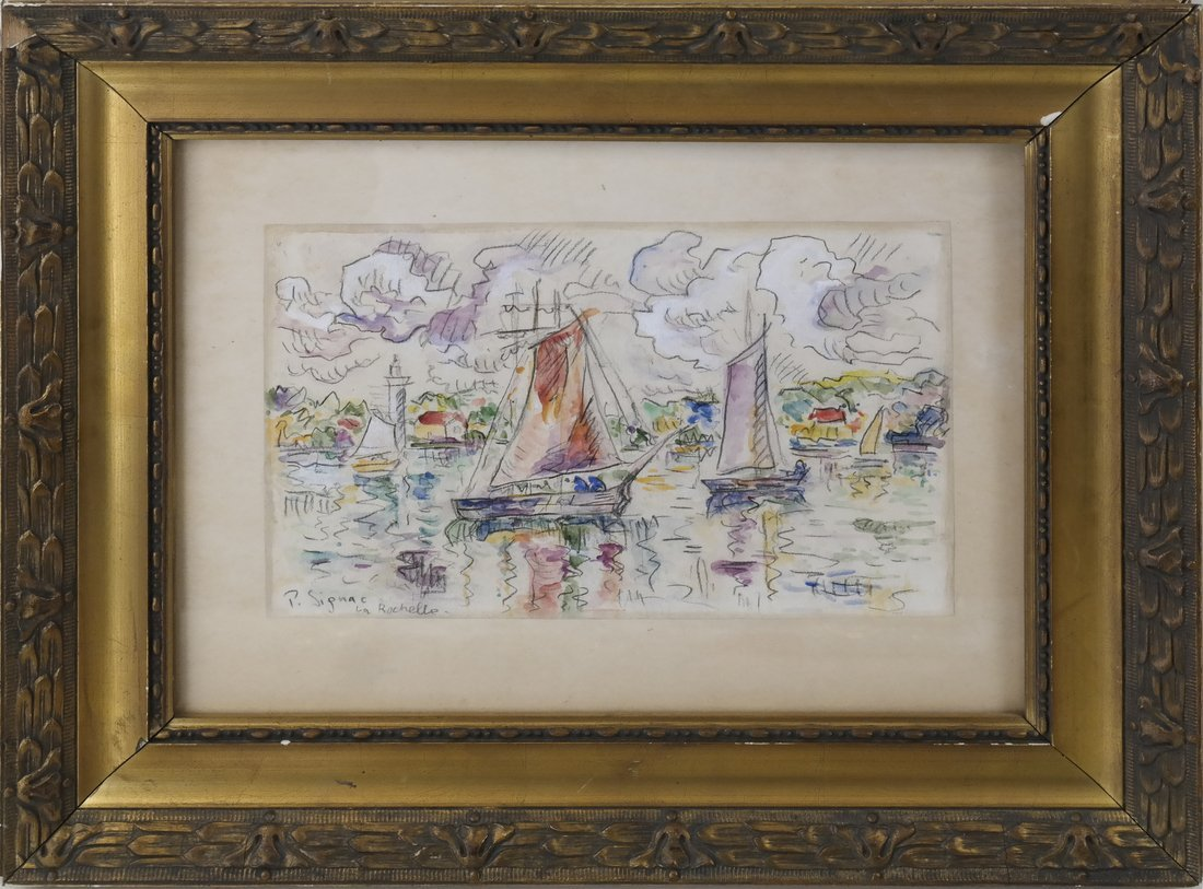 "Manner of  P. Signac, Gouache - ""La Rochelle"" - 2"