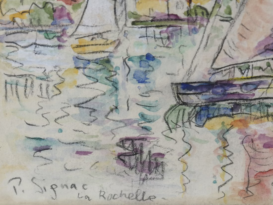 "Manner of  P. Signac, Gouache - ""La Rochelle"" - 3"