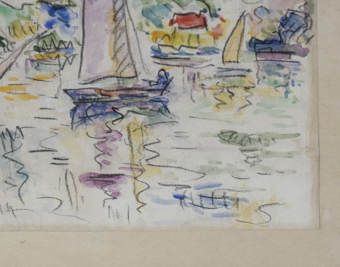 "Manner of  P. Signac, Gouache - ""La Rochelle"" - 4"