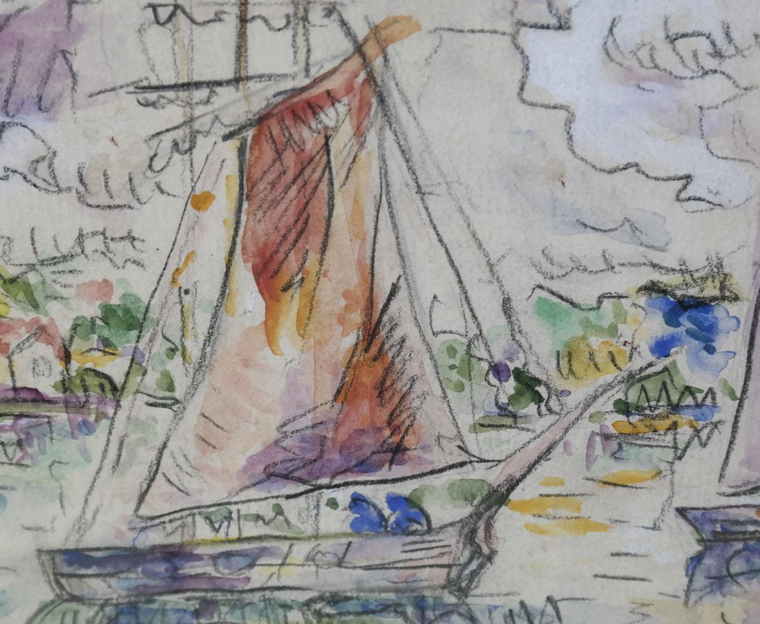 "Manner of  P. Signac, Gouache - ""La Rochelle"" - 5"