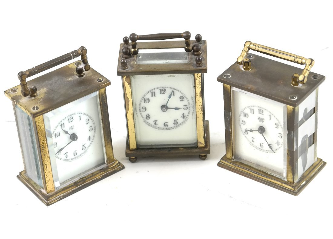 Three Diminutive Carriage Clocks