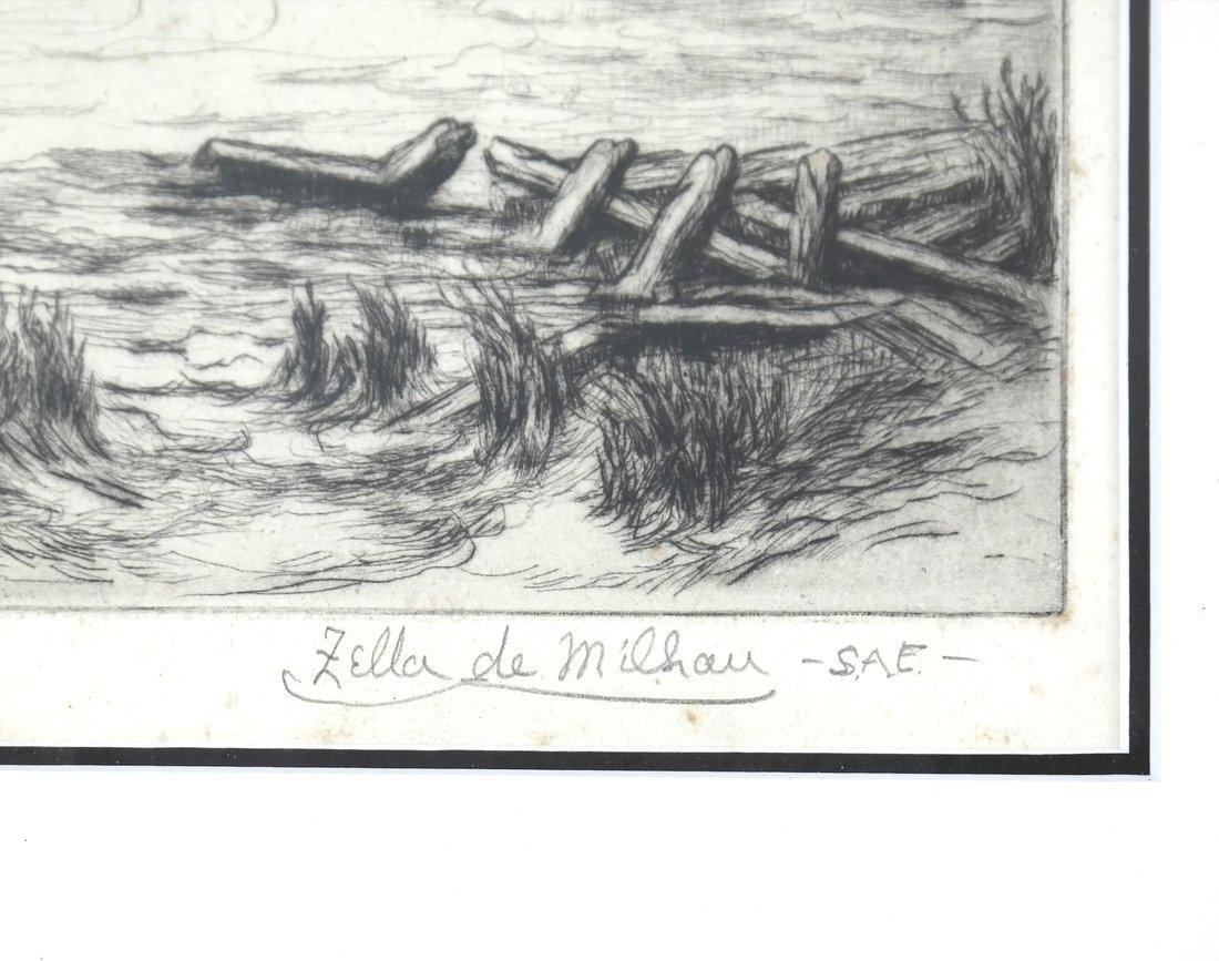 Two Zella de Milhau Landscape Etchings - 4