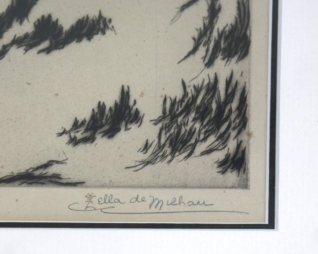 Two Zella de Milhau Landscape Etchings - 5